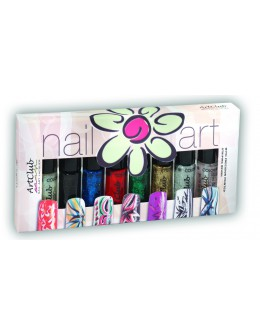 Nail Striper Collection Art Club 8 pcs. Glitters