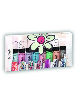 Nail Striper Collection Art Club 8 pcs. Pastels