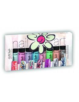 Nail Striper Collection Art Club 8 pcs. Pastels
