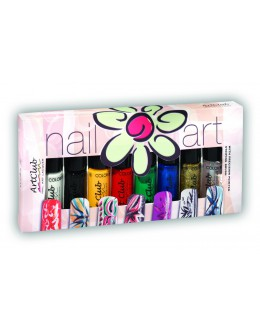 Nail Striper Collection Art Club 8 pcs. Primaries