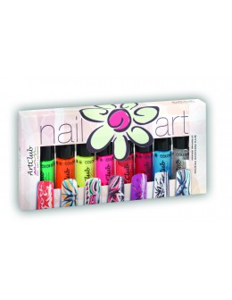 Nail Striper Collection Art Club 8 pcs. Neon