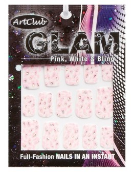 Art Club Glam Decals - Pink, White & Bling