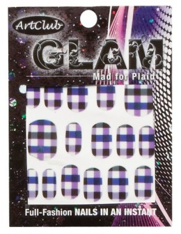 Art Club Glam Decals - Mad for Plaid