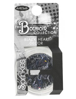 Art Club The Boudoir Collection Black Heart Decor Sprinkles