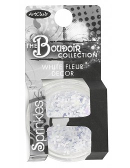 Art Club The Boudoir Collection White Fleur Decor Sprinkles