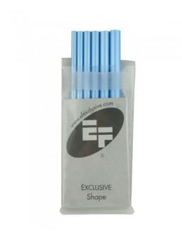 Rurki EF Artificial Nail Tool 6szt. - niebieskie