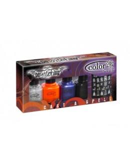 Zestaw lakierów Mini Color Club Bewitching 4 szt. 7 ml + naklejki