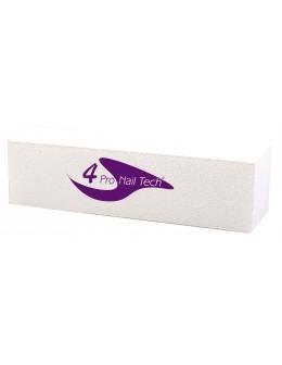 Blok polerski 4Pro Nail Tech - biały