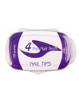 4Pro Nail Tech Nail Tips 100ct. - Clear