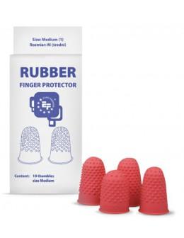 Gumowe naparstki ochronne Finger Protector 10szt. - czerwone