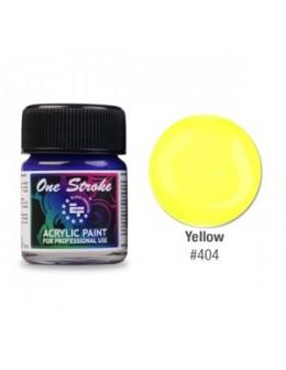Farbka akrylowa do zdobienia paznokci 15ml - Yellow
