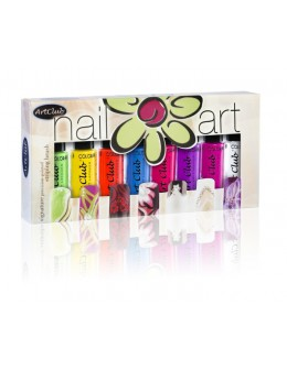 Nail Striper Collection Art Club 8 pcs. Brights