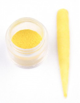 Welur EF Velvet - żółty