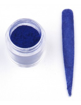 Welur EF Velvet - ciemny niebieski