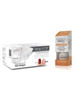 Żel Soak Off GELISH Hand&Nail Harmony VitaGel Nail Strengthener Recovery 15ml + waciki Wrap It Off 100szt.