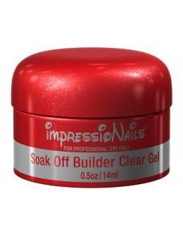 ImpressioNails Soak Off Gel 1/2oz - Builder Clear