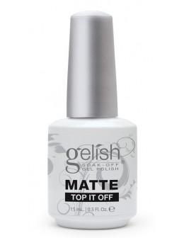 Żel nawierzchniowy matujący Soak Off GELISH Hand&Nail Harmony Matte Top It Off 15ml