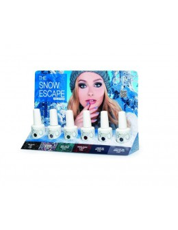 Wystawka Hand&Nail Harmony The Snow Escape Gelish Collection 6szt. + oliwki