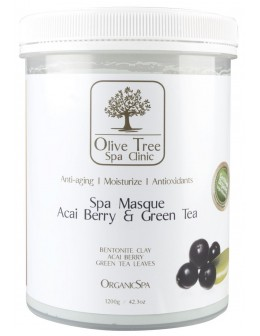 Maska Olive Tree Spa Clinic ORGANICS Spa Masque 1200g - Acai Berry & Green Tea