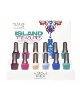 Morgan Taylor Nail Lacquer Treasure Island Display 12pcs