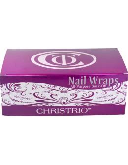 Folie do usuwania żellakieru Christrio Nail Wraps 200szt.