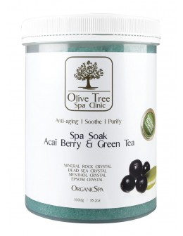 Olive Tree Spa Clinic ORGANICS Spa Soak 1000g - Acai Berry & Green Tea