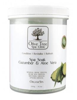 Sól Olive Tree Spa Clinic ORGANICS Spa Soak 1000g - Cucumber & Aloe Vera