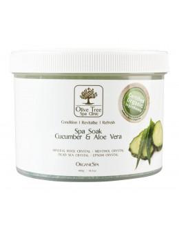 Sól Olive Tree Spa Clinic ORGANICS Spa Soak 400g - Cucumber & Aloe Vera