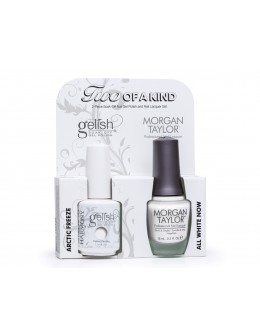 Hand&Nail Harmony Duo Gelish and MT - Arctic Freeze and All White Now
