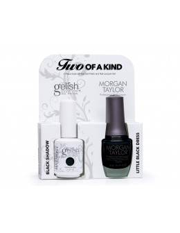 Zestaw Hand&Nail Harmony Duo Gelish and MT - Black Shadow and Little Black Dress