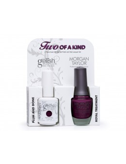 Zestaw Hand&Nail Harmony Duo Gelish and MT - Plum And Done and Royal Treatment