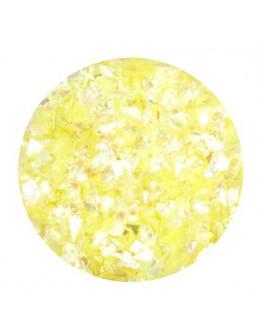 Ozdoba folia cięta - żółta opalizująca