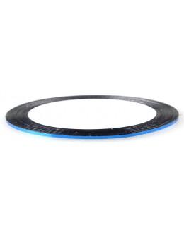 Pasek ozdobny samoprzylepny - niebieski metaliczny