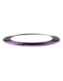 Pasek ozdobny samoprzylepny - fioletowy metaliczny