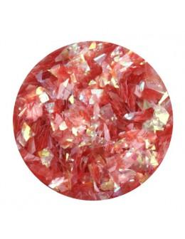 Ozdoba folia cięta - czerwona opalizująca