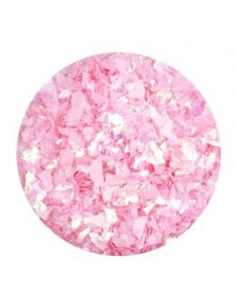 Ozdoba folia cięta - jasno różowa opalizująca