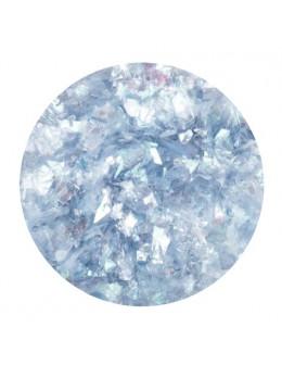 Ozdoba folia cięta - jasno niebieska opalizująca