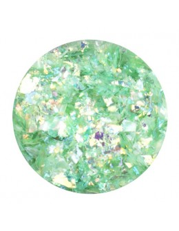 Glitter Flake - light green opalescent