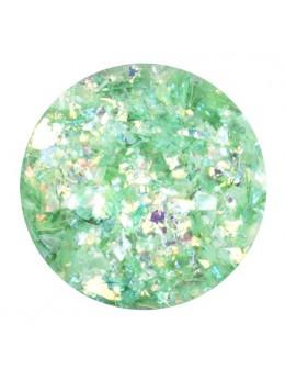 Ozdoba folia cięta - jasno zielona opalizująca
