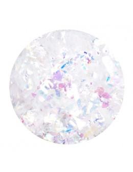 Ozdoba folia cięta - biała opalizująca