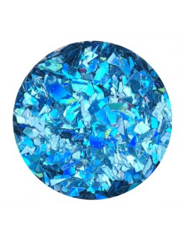 Glitter Flake - blue opalescent