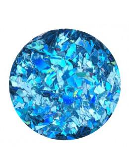 Ozdoba folia cięta - niebieska opalizująca