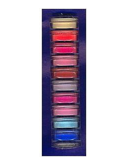 Zestaw połyskujących akryli kolorowych Christrio Deluxe Color Acrylic Polymer - 10 szt po 3g każdy