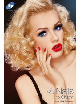 "EFexclusive Salon Poster ""For Your Nails to Charm"""