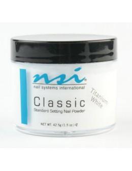 Puder akrylowy NSI Classic - Titanium White kredowo biały 42.5gr