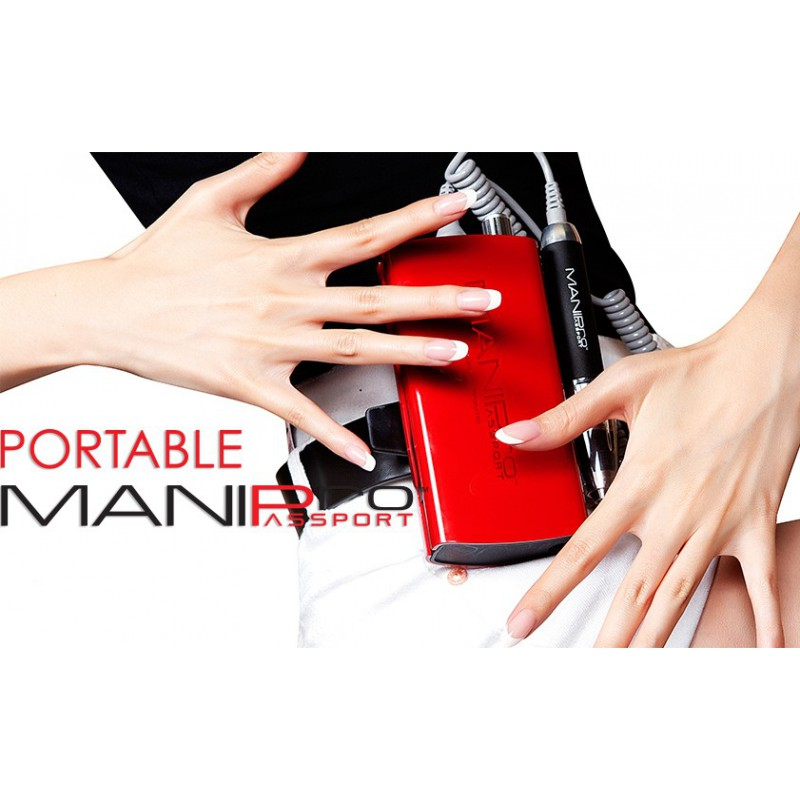 Mani-Pro Passport Nail Drill Red