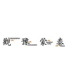 Szablony do zdobienia ciała Su-Do Body Stencil I Ching A 4szt.