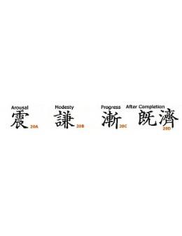 Szablony do zdobienia ciała Su-Do Body Stencil I Ching B 4szt.