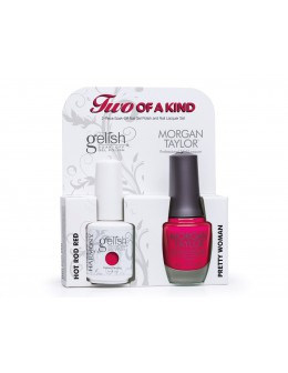 Zestaw Hand&Nail Harmony Duo Gelish and MT - Hot Rod Red and Pretty Women