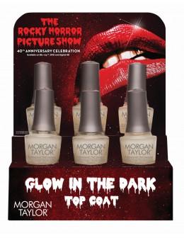 Wystawka utwardzaczy świecących w ciemności Morgan Taylor Glow In The Dark Top Coat 6szt.